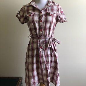 Pink Plaid LEI Dress